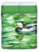 Ducks Swimming In A Pond Duvet Cover