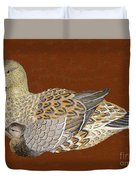 Ducks - Wood Carving Duvet Cover