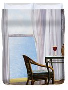 Due Rossi Al Mare Duvet Cover