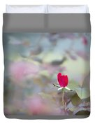 Duel Toned Ethereal Rose Bud Duvet Cover