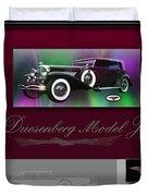 Duesenberg Model J Duvet Cover