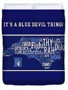 Duke University Blue And White Products Duvet Cover