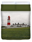 Dull Day At The Seaside. Duvet Cover