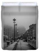Fog In Boston Duvet Cover
