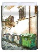 Dumpster Of Garbage Duvet Cover