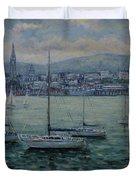 Dun Laoghaire Harbour Dublin Duvet Cover