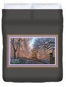 Dundalk Avenue In Winter. L A With Alt. Decorative Printed Frame. Duvet Cover