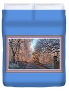 Dundalk Avenue In Winter. L A With Decorative Ornate Printed Frame. Duvet Cover
