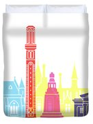 Dundee Skyline Pop Duvet Cover