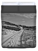 Dune Path In Black And White Duvet Cover