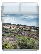 Dune Plants As Erica And Beautiful Sky Duvet Cover