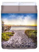Dunes At The Pier Duvet Cover