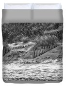 Dunes In Black And White Duvet Cover