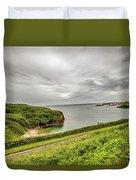 Dunmore East Cliffs Duvet Cover