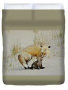 Dunr Fox Father And Child Duvet Cover