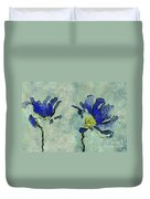 Duo Daisies - 02dp3b22 Duvet Cover by Variance Collections