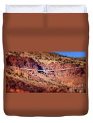 Duo Discus Over Red Rocks  Air Sailing Nevada Duvet Cover
