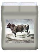 Durham Bull, 1856 Duvet Cover