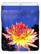 Dusk And A Dahlia Duvet Cover