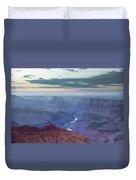 Dusk At Desert View Duvet Cover