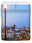 Dusk At Federal Hill Duvet Cover