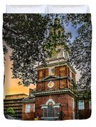 Dusk At Independence Hall Duvet Cover