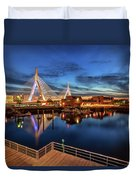 Dusk At The Zakim Bridge Duvet Cover