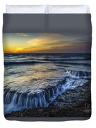 Dusk At Torregorda Beach San Fernando Cadiz Spain Duvet Cover