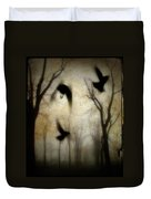 Dusk Begins As The Crows Fly Duvet Cover
