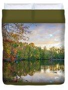 Dusk On Autumn Lake  Duvet Cover