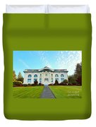 Dusk On Pacific County Historical Courthouse  Duvet Cover