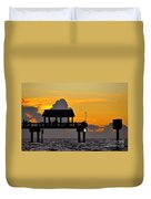 Dusk Over The Gulf Duvet Cover