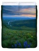 Dusk Over The Yakima Valley Duvet Cover