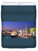 Dusk, The Strip, Las Vegas, Nevada, Usa Duvet Cover