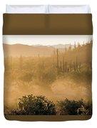 Dust Storm In The Desert Duvet Cover
