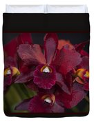 Dusty Red Orchid Duvet Cover