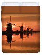 Dutch Sillhouette Duvet Cover