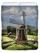 Dutch Windmill Near The Zuider Zee Duvet Cover