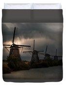 Dutch Windmills In Kinderdjik Duvet Cover