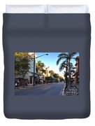 Duval Street In Key West Duvet Cover by Susanne Van Hulst