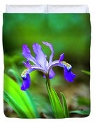 Dwarf Crested Iris Duvet Cover