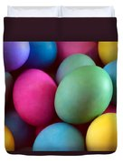Dyed Easter Egg Abstract Duvet Cover