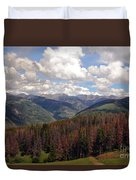Dying Evergreens Duvet Cover