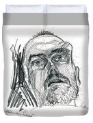 Dying Soldier  Duvet Cover