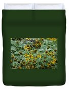Dying Sun Flowers Duvet Cover