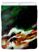 Dying Swan-abstract Duvet Cover