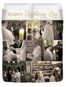 Dylan's Christening Day V3 Duvet Cover