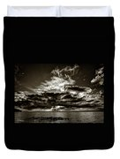 Dynamic Sunset - Sepia Duvet Cover
