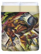 Dynamism Of A Cyclist Duvet Cover