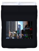 E Food  Taxi  New York City Duvet Cover